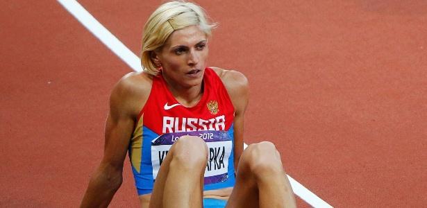 Antonina Krivoshapka durante a Olimpíada de Londres; uso de turinabol