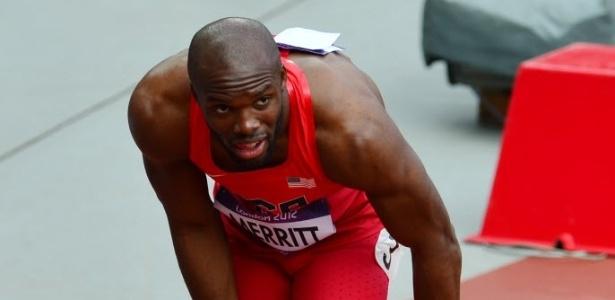 LaShawn Merritt sofreu uma lesão e não conseguiu terminar os 400 m rasos