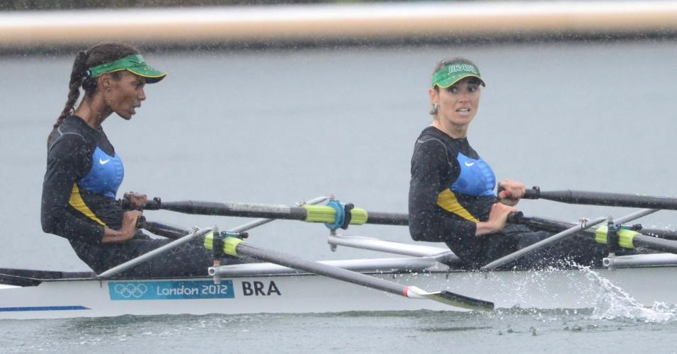 Luana Bartholo e Fabiana Beltrame disputaram final C do skiff duplo do remo em Londres