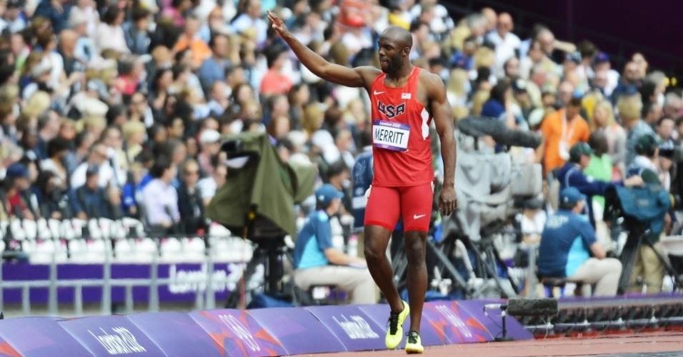 Norte-americano Lashawn Merritt, campeão olímpico em 2008, foi eliminado dos 400 m rasos