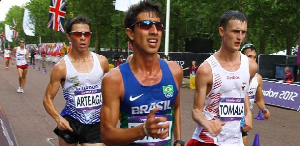 O brasileiro Caio Bonfim não foi bem nos 20 km da marcha atlética e terminou na 39ª colocação