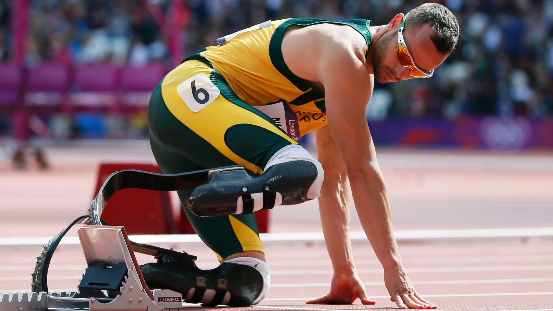 Oscar Pistorius nas eliminatórias dos 400 m rasos