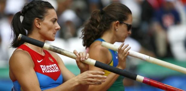 Yelena Isinbayeva e Fabiana Murer não tiveram o desempenho esperado no salto com vara em Londres