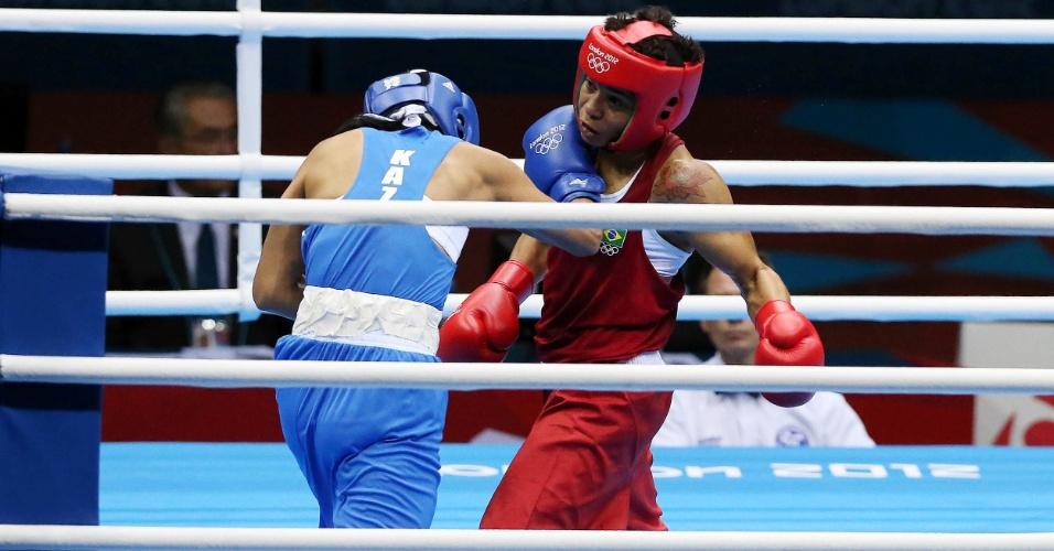 Adriana Araújo parte para o ataque na vitória em sua estreia nos Jogos de Londres, neste domingo