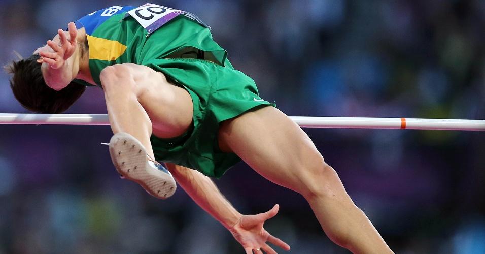 Brasileiro Guilherme Cobbo participa de eliminatória do salto em altura, neste domingo