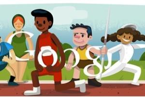 Cerimônia de abertura é representada no logotipo do Google