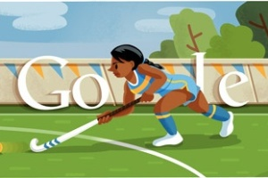 Hóquei na grama é representado no logotipo do Google