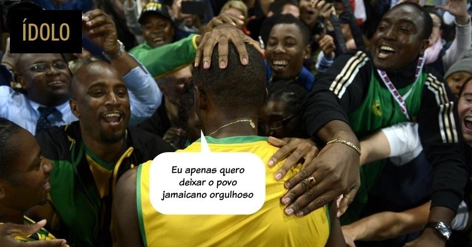 """ÍDOLO: """"Eu apenas quero deixar o povo jamaicano orgulhoso."""""""