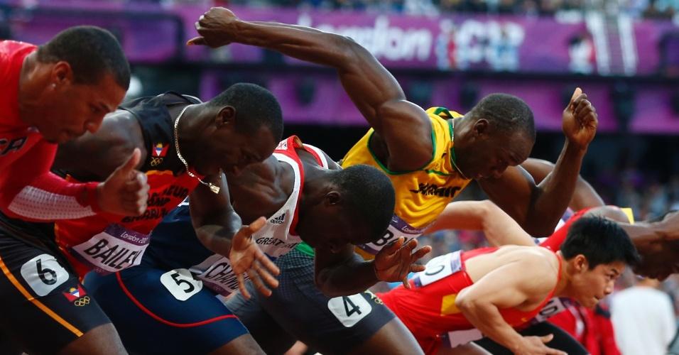 Jamaicano Usain Bolt disputa a semifinal dos 100 m rasos