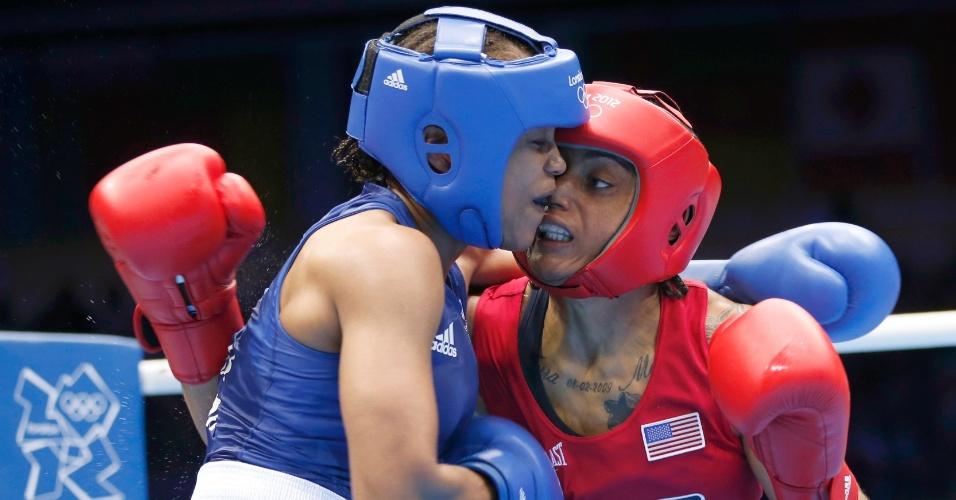 Norte-americana Quanitta Underwood enfrenta a britânica Natasha Jonas na categoria leve (60kg)