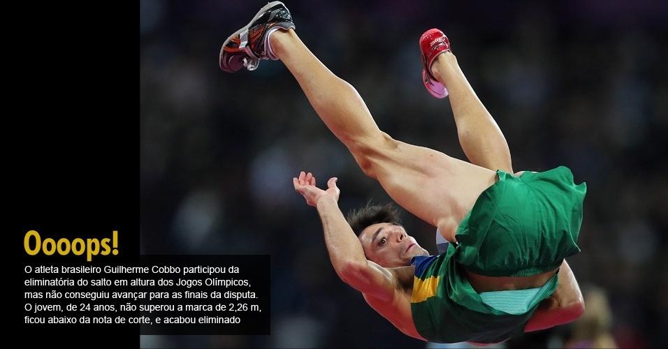 O atleta brasileiro Guilherme Cobbo participou da eliminatória do salto em altura dos Jogos Olímpicos, mas não conseguiu avançar para as finais da disputa. O jovem, de 24 anos, não superou a marca de 2,26 m, ficou abaixo da nota de corte, e acabou eliminado