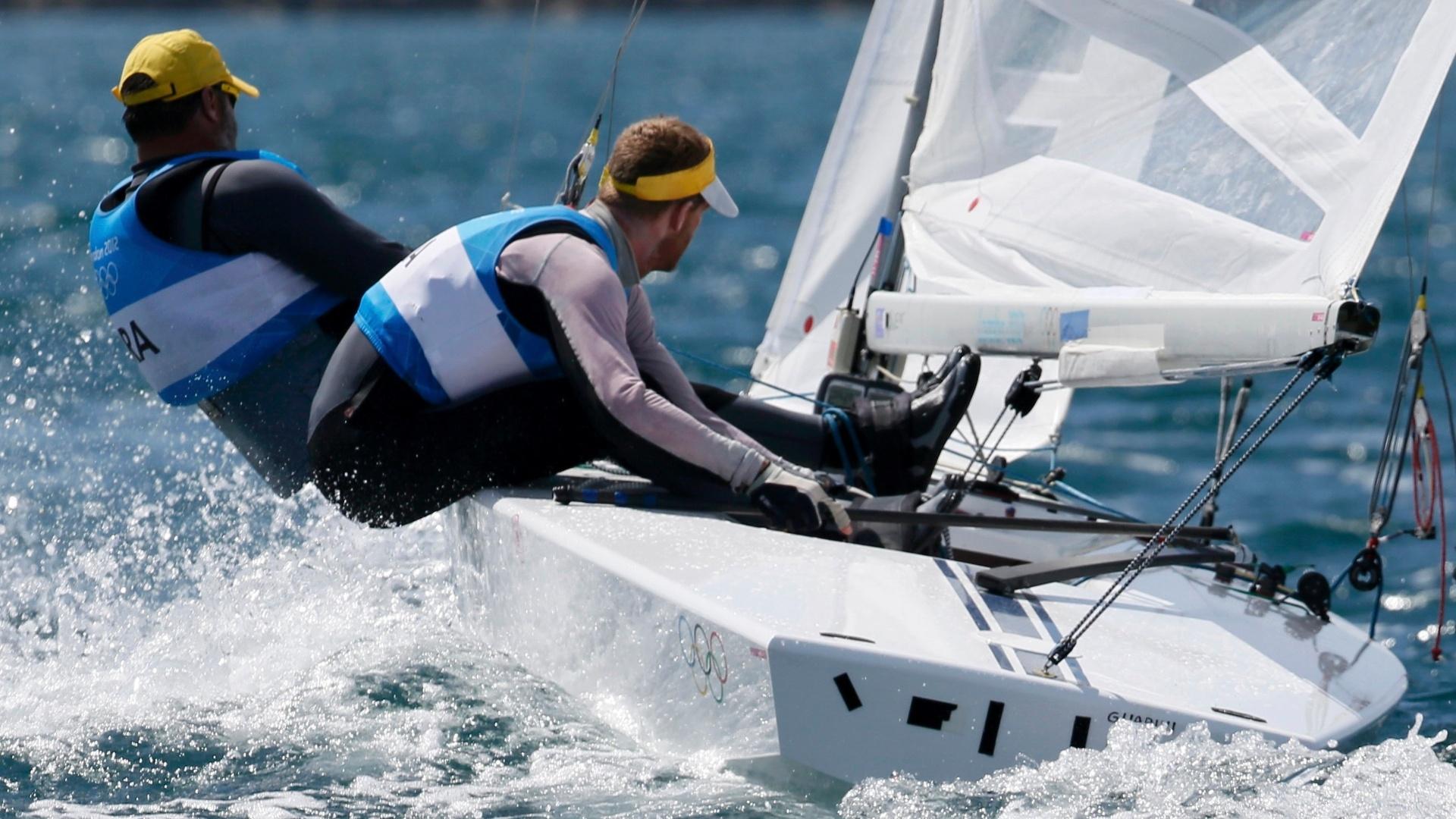 Robert Scheidt terminaram última regata da classe Star na sétima colocação