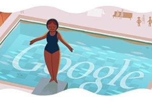 Saltos ornamentiais são representados no logotipo do Google