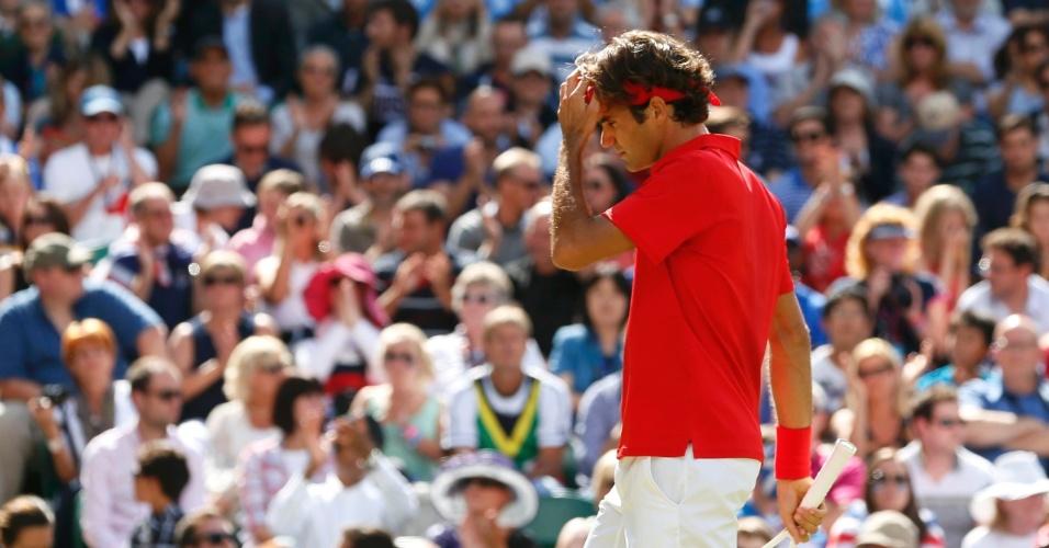 Suíço Roger Federer disputa a final dos Jogos Olímpicos com o britânico Andy Murray