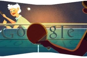 Tênis de mesa é representado no logotipo do Google