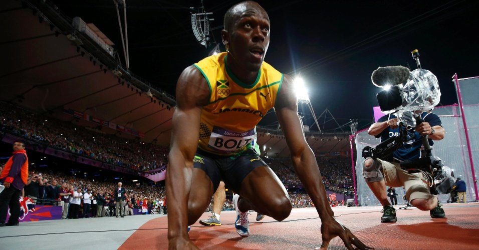 Usain Bolt prepara-se para disputar final olímpica dos 100 m rasos