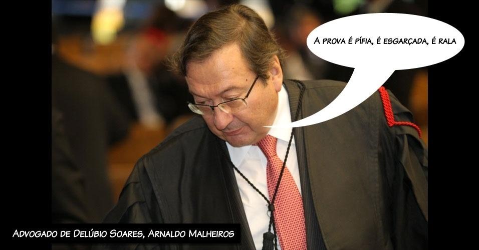 """6.ago.2012 - """"A prova é pífia, é esgarçada, é rala"""", disse o advogado de Delúbio Soares, Arnaldo Malheiros, ao negar que haja provas contra seu cliente no processo do mensalão"""