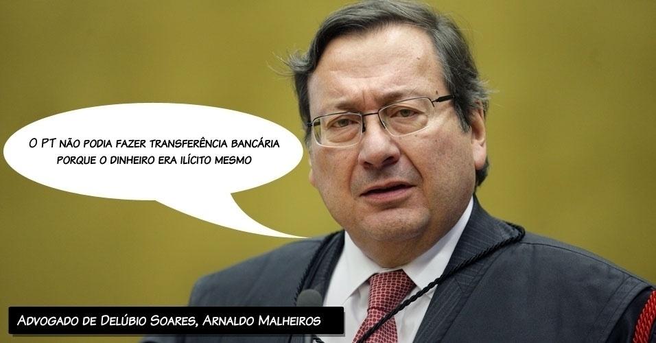 """6.ago.2012 - """"O PT não podia fazer transferência bancária porque o dinheiro era ilícito mesmo"""", afirmou Arnaldo Malheiros, alegando que havia prática de caixa dois, mas não de compra de voto de parlamentares"""