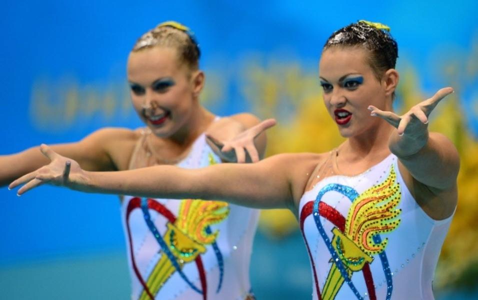 As norte-americanas Mariya Koroleva e Mary Killman trouxeram o espírito olímpico no figurino