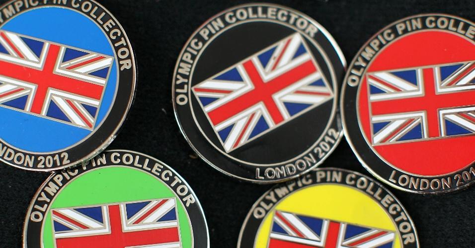 Os broches temáticos dos Jogos de Londres são os mais cobiçados pelos colecionadores