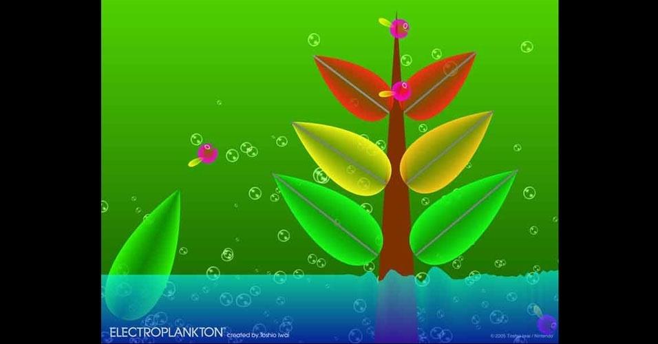 """""""Electroplankton"""" é um exótico jogo musical para Nintendo DS que inspirou uma arena de """"Super Smash Bros. Brawl"""", para Wii"""