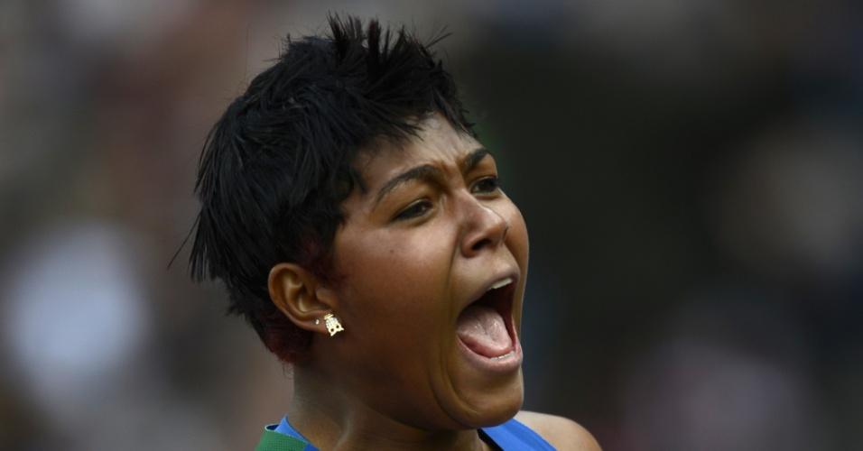 Geisa Arcanjo se classificou para a final do arremesso de peso com a 11º melhor marca