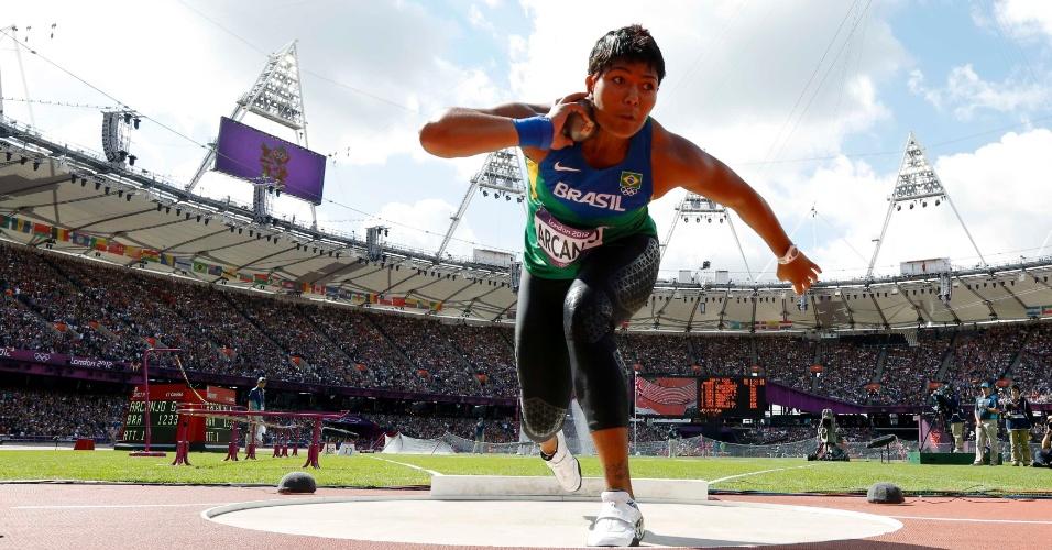 Geisa Arcanjo se classificou para a final do arremesso de peso com a 11ª melhor marca