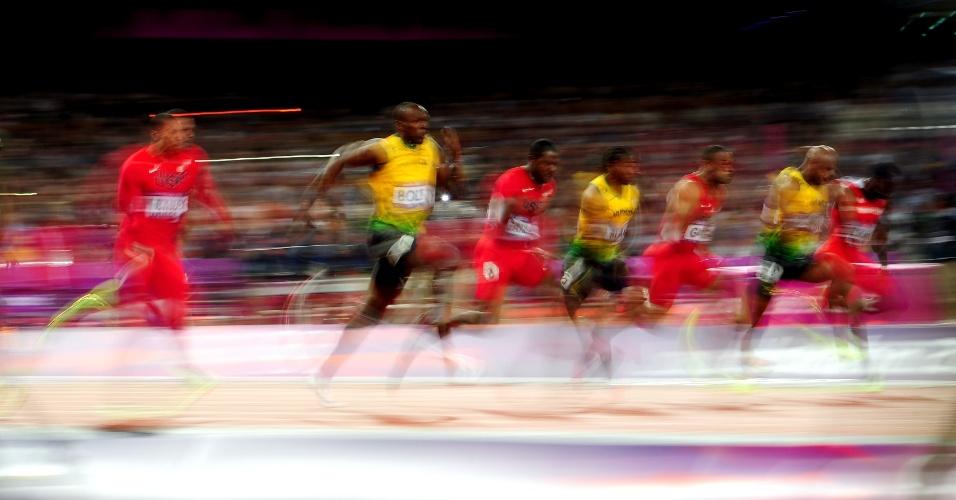 Imagem mostra por que os 100 m rasos é a prova mais rápida do atletismo
