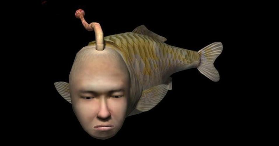 """Lançado primeiro no Dreamcast, """"Seaman"""" mostra um perturbador homem peixe que conversa com o jogador por meio do microfone do videogame"""