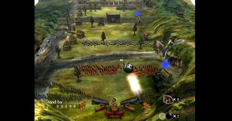 """""""Odama"""" é um pitoresco jogo exclusivo do GameCube que mistura pinball, estratégia, Japão feudal e comandos por voz"""