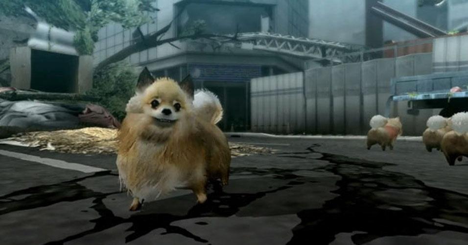 """Para PlayStation 3, """"Tokyo Jungle"""" tem esse adorável cachorrinho como herói, mas permite controlar outros animais em uma Tóquio pós-apocalíptica"""