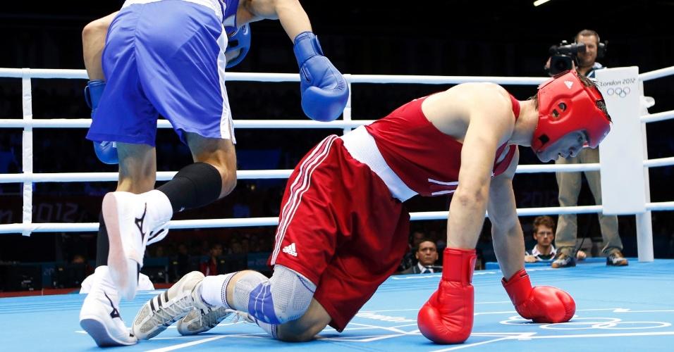 Turco Adem Kilicci sofre nocaute de japonês Ryota Murata em duelo dos médios dos Jogos de Londres