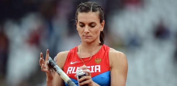 Yelena Isinbayeva decepcionou e ficou com a medalha de bronze nos Jogos de Londres