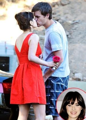 Zooey Deschanel e Jamie Linden em Los Angeles, Califórnia (5/8/2012)