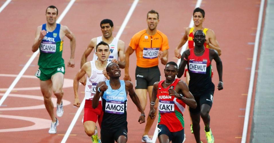 Brasileiro Fabiano Peçanha fica para trás em bateria da semifinal dos 800 m rasos