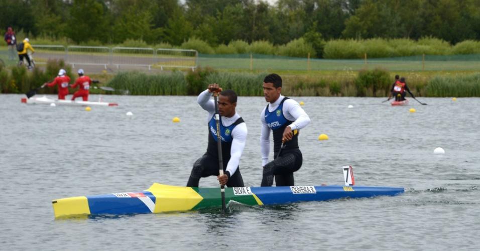 Erlon Silva e Ronilson Oliveira venceram bateria na eliminatória dos 1000m na canoagem olímpica