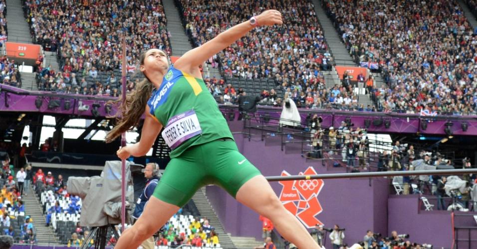 Laila Ferrer ficiu com 21º lugar e fica fora da final do lançamento de dardo em Londres