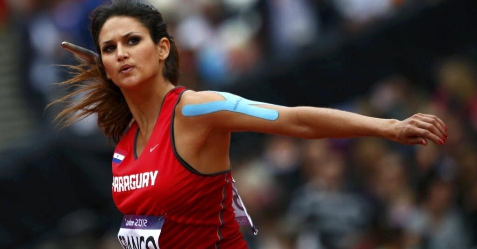Leryn Franco, musa paraguaia do atletismo, compete no lançamento de dardo