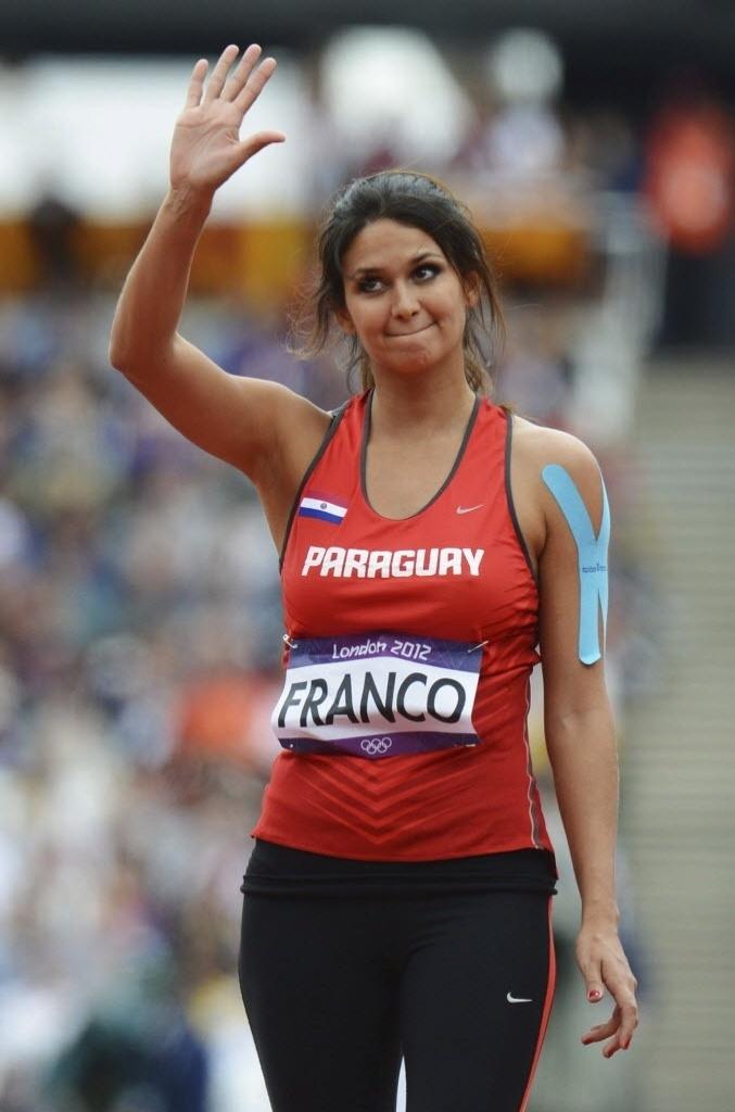Leryn Franco se despede após ficar apenas em 34º lugar na eliminatória do lançamento de dardo