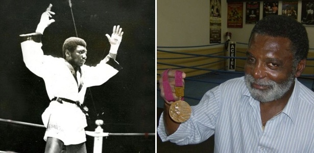Servílio de Oliveira em ação e com a medalha de bronze conquistada nos Jogos do México, em 1968