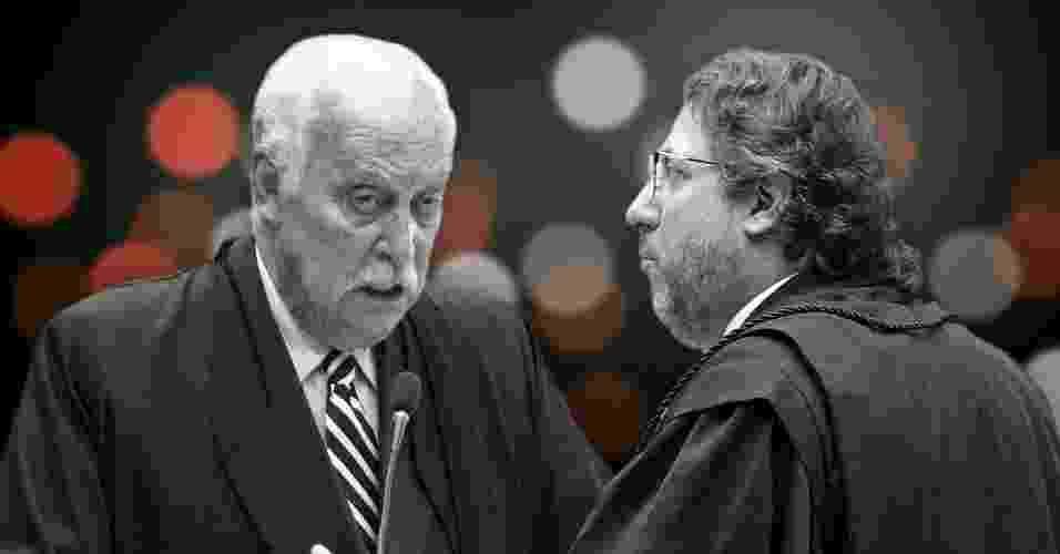 Os advogados Leonardo Yarochewsky (dir.) e Paulo Sérgio Abreu e Silva citaram a novela das oito durante suas defesas no STF - Arte/UOL