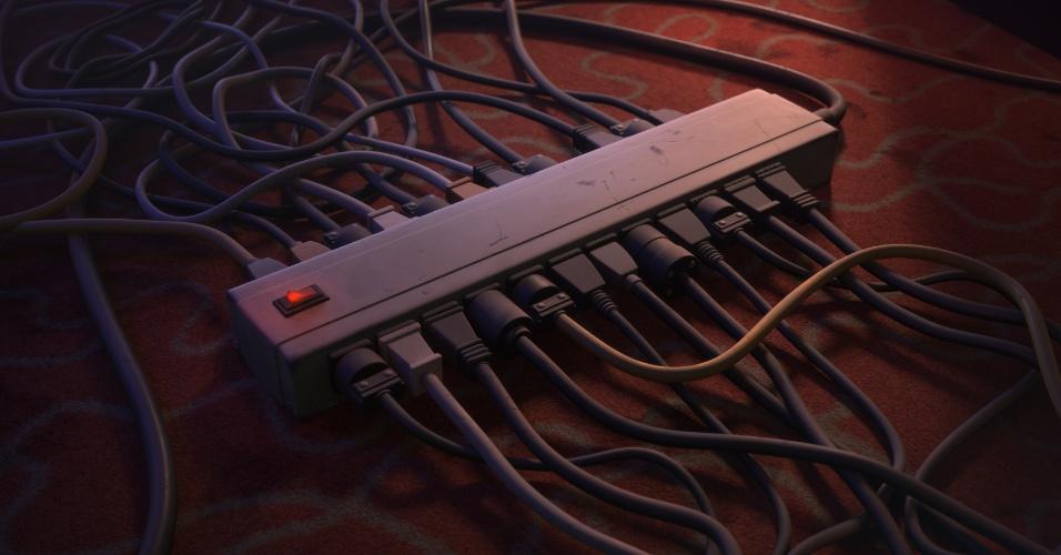 """Os cabos de energia representam se um personagem ainda está """"na ativa""""."""