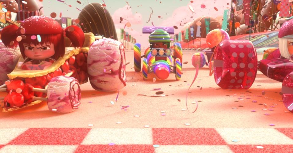 """""""Sugar Rush"""" um dos jogos que aparecem em """"Detona Ralph"""""""