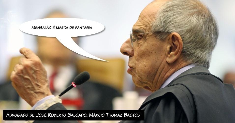 """8.ago.2012 - """"Mensalão é marca de fantasia"""", alegou Márcio Thomaz Bastos, que defende José Roberto Salgado, ex-diretor e ex-vice presidente do Banco Rural"""
