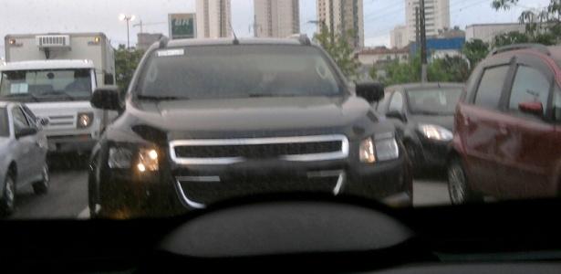 Chevrolet Blazer também traz a dianteira em forma de escudo seccionada por barra - Vitor Tadeu Lousada/UOL