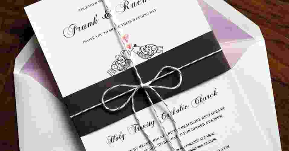 Imagem para matéria de convites de casamento - Phatt Design/Divulgação