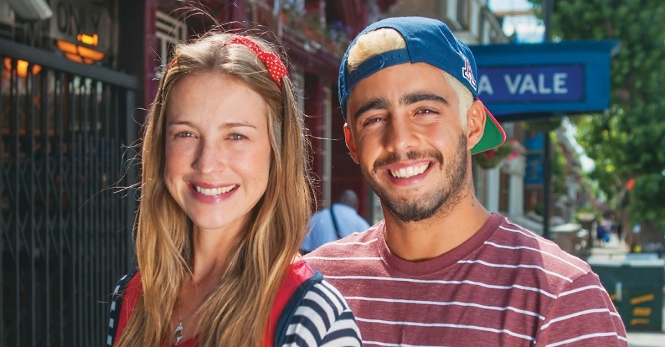 Luana Piovani e Pedro Scooby durante viagem para Londres