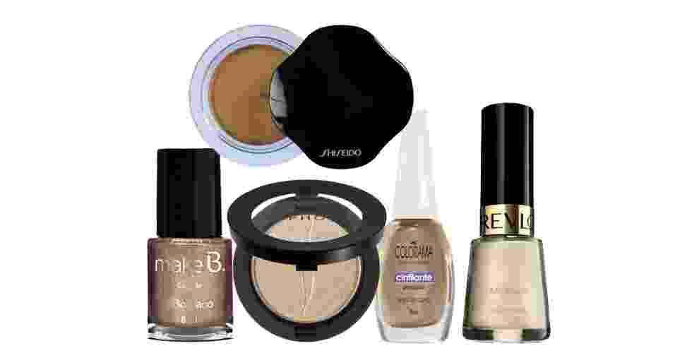 Sembra e esmalte dourados - Montagem/UOL