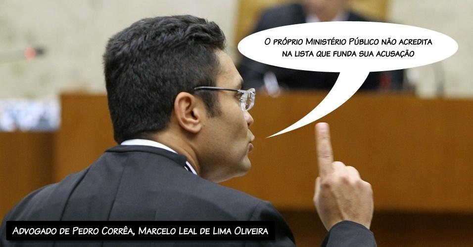 """9.ago.2012 - """"O próprio Ministério Público não acredita na lista que funda sua acusação"""", disse o advogado de Pedro Corrêa, Marcelo Leal de Lima Oliveira"""