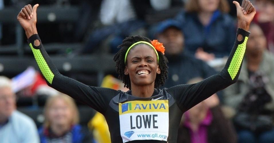Outra mamãe do salto em altura é a norte-americana Chaunte Lowe, que em 2007 havia dado à luz Jasmine e em 2011, novamente um ano antes de Olimpíada, teve Aurora